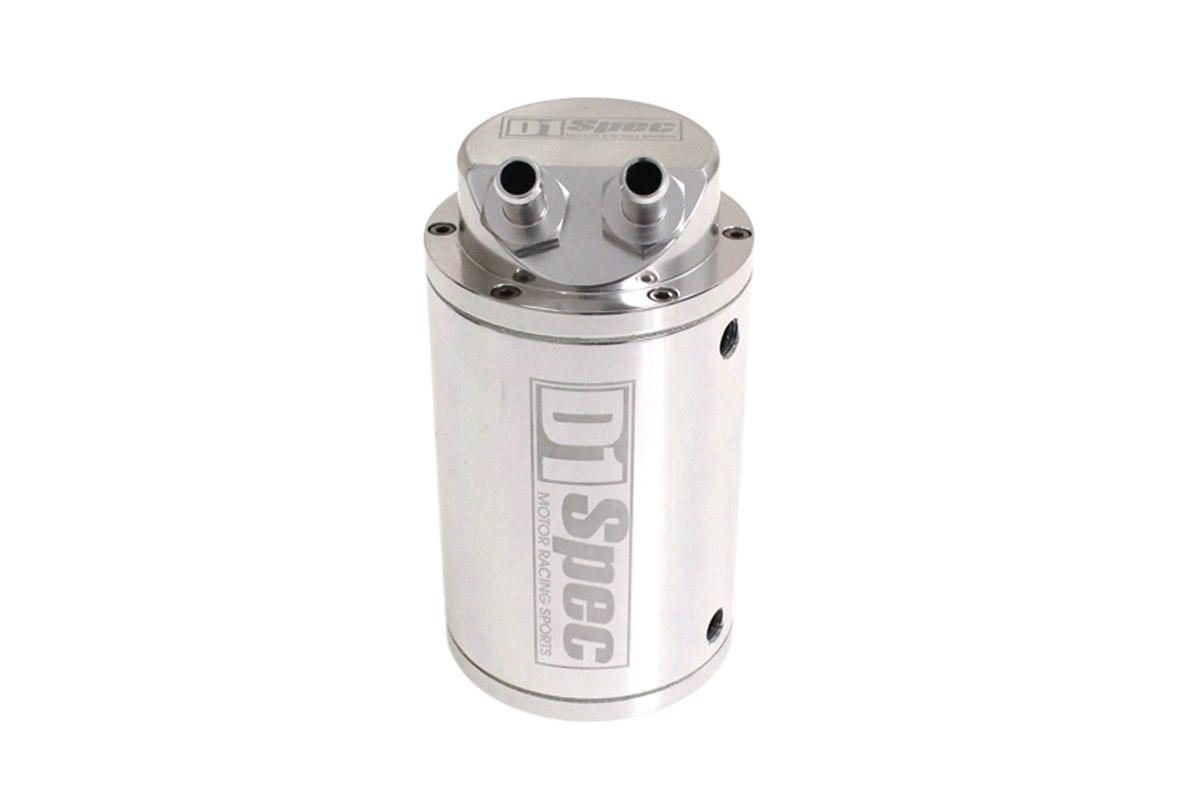 Oil catch tank 0.7L 9mm D1Spec Silver - GRUBYGARAGE - Sklep Tuningowy